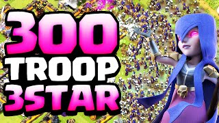 Clash of Clans 300 Troop ♦ FASTEST 3-Star Ever! ♦ CoC ♦