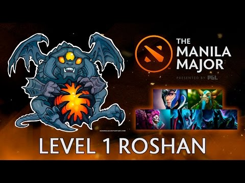 Level 1 Roshan, 5 man push strat — Manila Major Dota 2