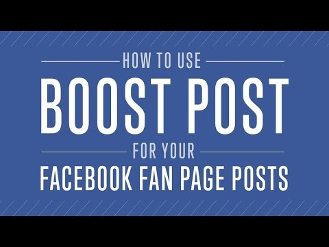 How To Use BOOST POST On Facebook - Tagalog