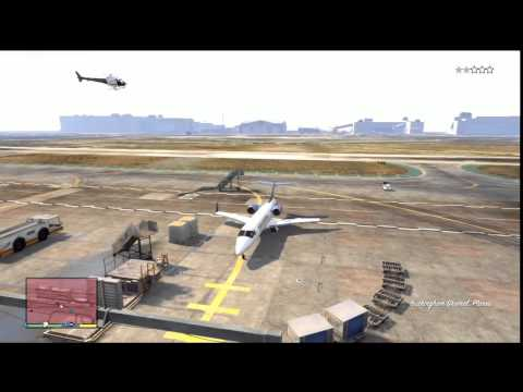 GTA V (GTA 5): Jet. Plane Flying Gameplay (Xbox 360)
