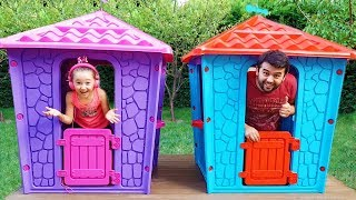 Öykü'nün Yeni Oyun Evi Öykü and Dad build Playhouses for children - Funny Oyuncak Avı