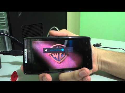 Motorola RAZR XT910 USB OTG Demostración