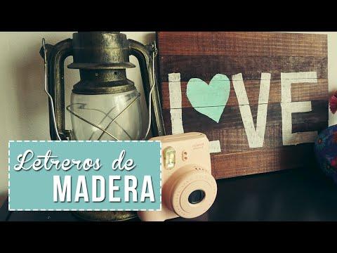 Letreros de madera para decorar tu cuarto! - Sonia Alicia