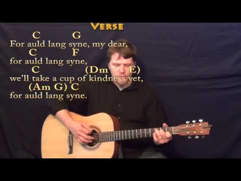 Auld Lang Syne - Strum Guitar Cover Lesson in C wth Chords/Lyrics
