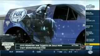 NASCAR Race Day With Monster Jam Truck FOX Sports 1 Cleatus
