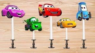 Lollipop Disney Cars 3 Mcqueen Colors For Kids Finger Family Nursery Rhyme | Finger Daddysong