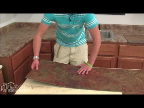 How to lay self adhesive vinyl floor tiles
