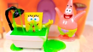 🌟 SPONGEBOB 🌟 Funny Slime Bath ❤️ Videos and games for kids