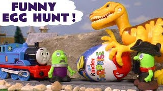 Funny Funlings fun Kinder Surprise Egg Hunt toy story with Thomas Trains and Dinosaurs TT4U