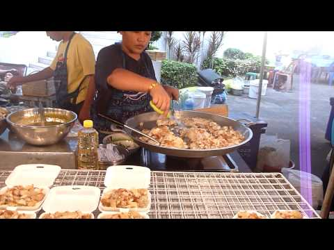 Walking through a cooked food market in Bangkok, Thailand – with Insects – 11/201