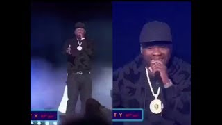 50 Cent Sings Power Theme Song On Stage At Radio City Music Hall For the Premiere  Party!!