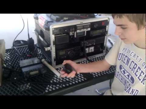 Ryan, KG7AVY, makes first HF contact with KF7E, 2-2-2013