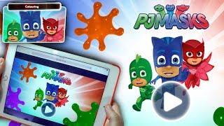 NEW PJ Masks iPad Drawing Game - Luna Girl Steals the Presents