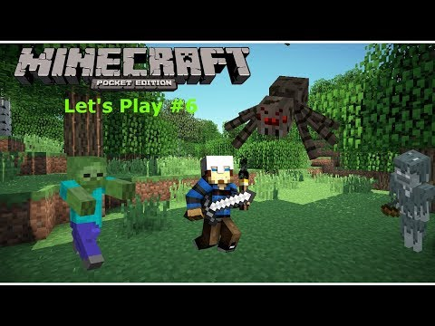 Minecraft PE #6: Survival Let's play with quilly- Hucking up the form and Killing Mobs(1.6.1 2018)