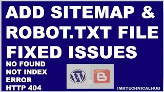 How to add Sitemap and Robot.txt file to blogger|Index|Fetch|Search Console|2020