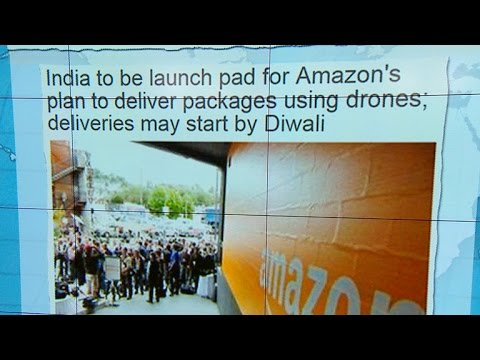 Headlines at 8:30: Amazon plans to launch drone delivery service in India