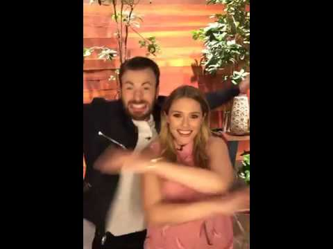 Chris Evans & Elizabeth Olsen on The Ellen Show (Behind the scenes)