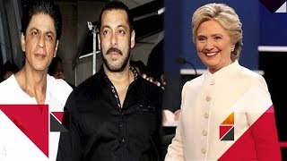 OMG!! Salman Khan BEATS Shah Rukh Khan In Instagram Race | Salman SUPPORTS Hillary Clinton & More