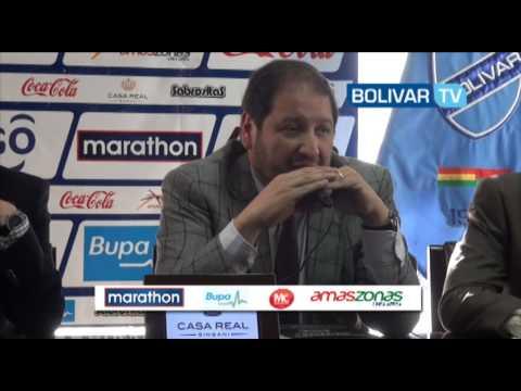 Conferencia de Prensa Guido Loayza Presenta Proyecto para el futbol Boliviano