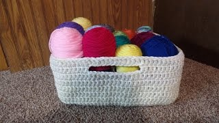 CROCHET How to #Crochet Easy Large Multipurpose Basket #TUTORIAL #214 LEARN CROCHET