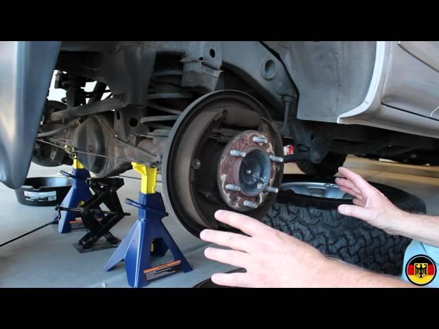 1996-2002 Toyota 4Runner Rear Brake Drum Shoe Replacement ...