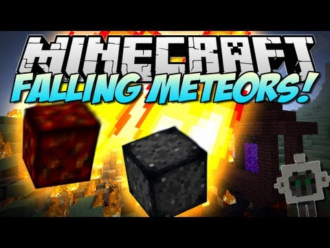Minecraft FALLING METEORS Destruction from the sky Mod Showcase 1.5.2