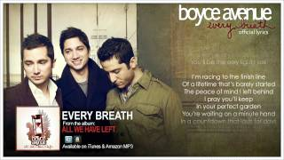 Boyce Avenue - Every Breath (Official Song & Lyrics) on iTunes & Spotify