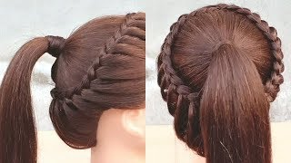 Beautiful hairstyle for collage girls || Easy braided hairstyle compilation || hair style girl