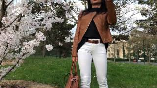spring lookbook | white pants | weekend outfit