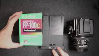 How to load your FP-100 instant film into a Polaroid back