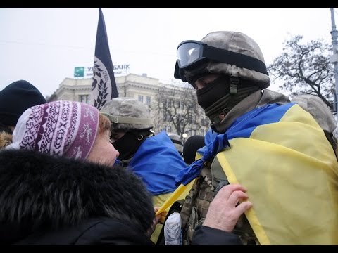 Ukranian Troops Emotional Sendoff: Soldiers leave Ukraine's Kharkiv bound for conflict zone