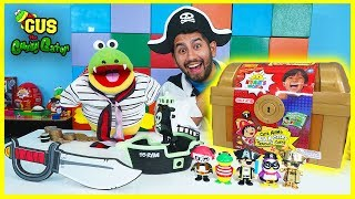 Ryan's Mystery Treasure Chest Surprise Toys with Gus and Pirate!