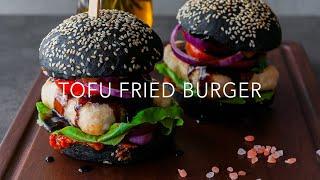How to make Tofu Burger / Easy Vegan Recipe / 豆腐バーガー / 두부 버거 / 豆腐汉堡 4K video (subs)
