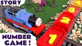Thomas and Friends Play Doh Numbers Game | Family Fun counting Toy Train Toys Number Logo