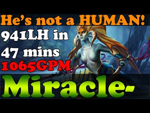 Dota 2 - He's not a HUMAN! - Miracle- 8400MMR Plays Naga - 941LH in 47mins - Ranked Match