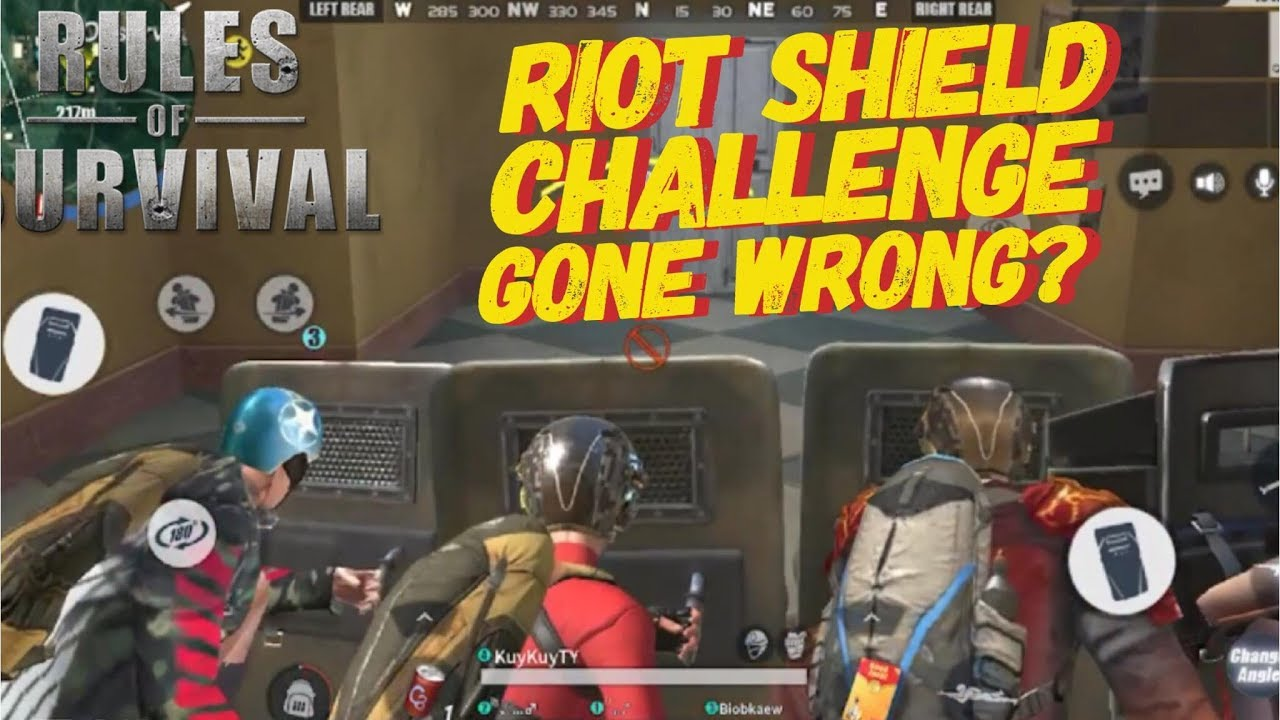 RIOT SHIELD ONLY CHALLENGE + ACCIDENT TEAM UP ROS MOBILE #12