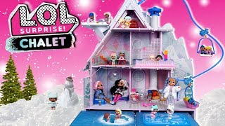 LOL OMG Doll Family Moving Routine in Winter Disco Holiday Chalet House