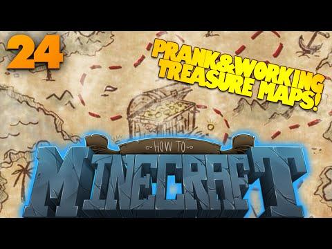 How To Minecraft   #24   SALT PRANK   How To Make Treasure Maps in Minecraft (How To Minecraft SMP)