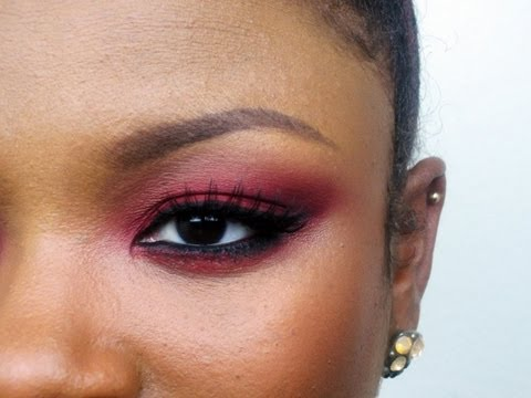 Simple Red Eyeshadow Tutorial
