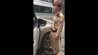 CSGT ngã 4 Bạch Mai, Trương Định, nói công văn mới,trong nội thành HN,biển cấm ko cần biển hướng dẫn
