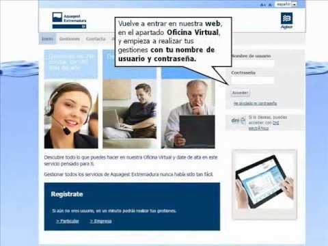 oficina virtual aquagest extremadura youtube