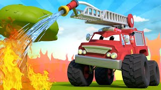 Cái chai nguy hiểm - Thành phố xe 🚗 những bộ phim hoạt hình về xe tải l Vietnamese Cartoons