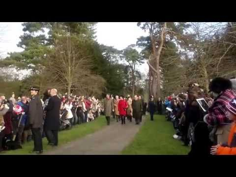 The Queen Elizabeth II Makes a quick exit from Sandringham 2014