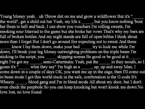 Eminem- No Love Feat. Lil Wayne (Clean Version w Lyrics)