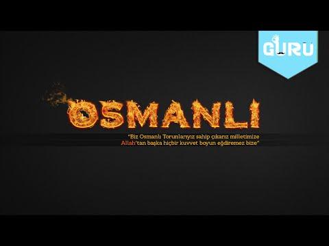 #1 Alevli Osmanlı Yazı Efekti  ve Wallpaper Yapımı