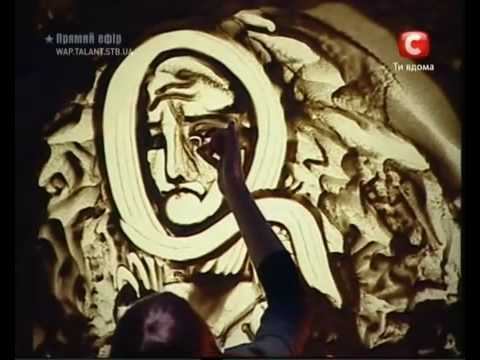 Artist - Kseniya Simonova - Sand Animation - Ukraine's Got Talent 2009...