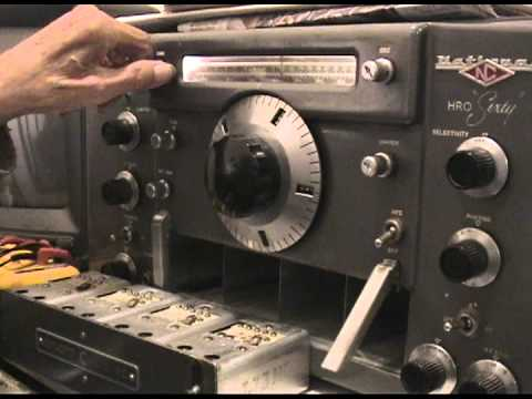 1 of 4 national hro 60 sixty old timey ham radio receiver youtube. Black Bedroom Furniture Sets. Home Design Ideas