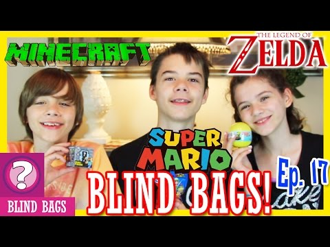 BLIND BAG EPISODE 17!  SPECIAL E3 EDITION!   MINECRAFT. ZELDA. SUPER MARIO    KITTIESMAMA