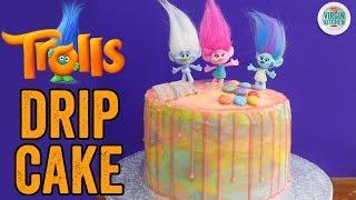 TROLLS RAINBOW DRIP CAKE RECIPE