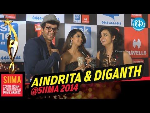 Aindrita Ray and Diganth at SIIMA 2014 Awards, Malaysia